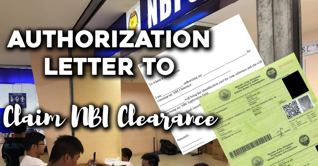Authorization Letter to Claim NBI Clearance Content
